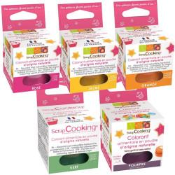 Colorants alimentaires en poudre naturels 10 g