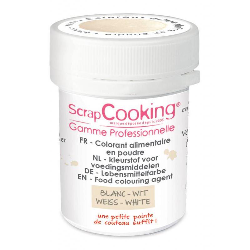 Colorant alimentaire en poudre blanc 5g
