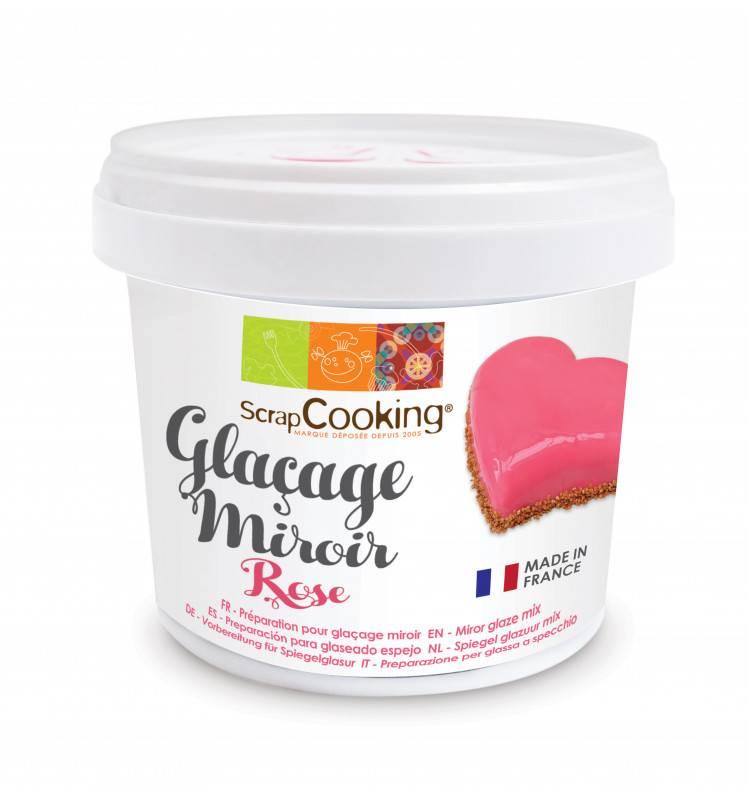 preparation glacage miroir rose 220g