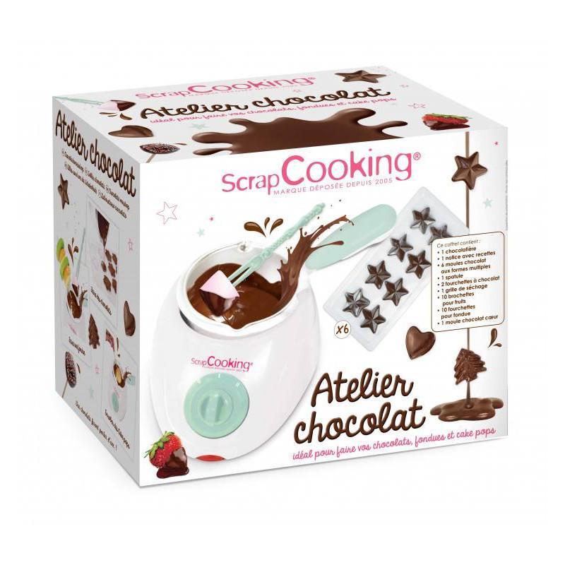 Kit eléctrico de fabricación de chocolate y sus accesorios