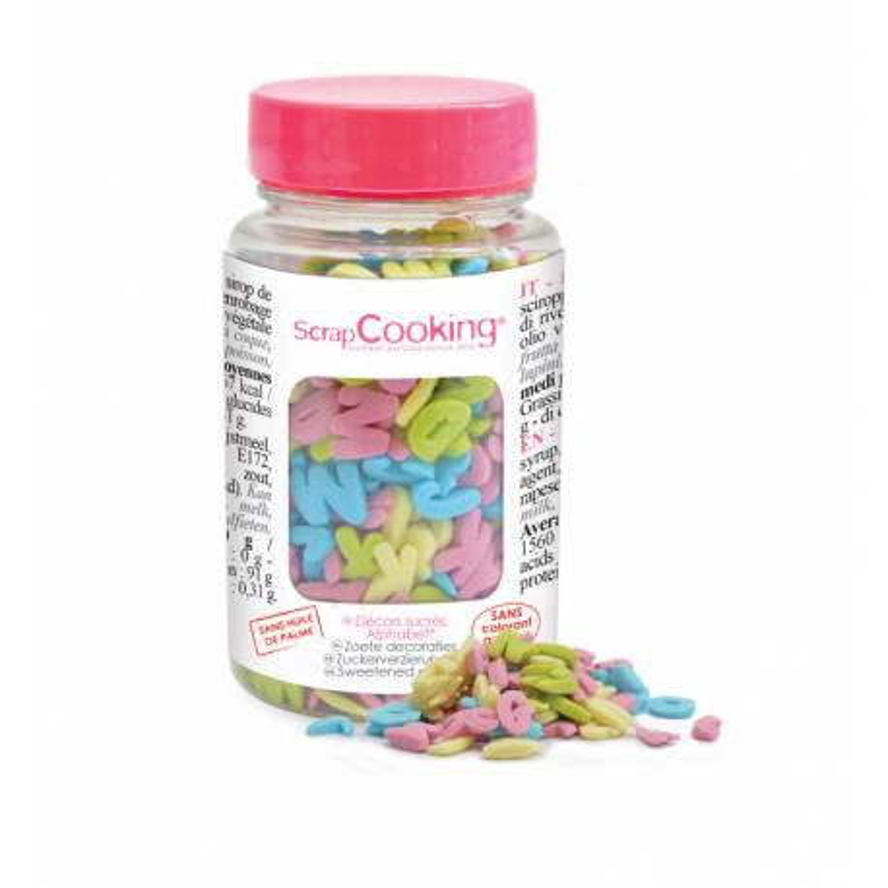 Sprinkles en sucre Lettres et alphabet 55g