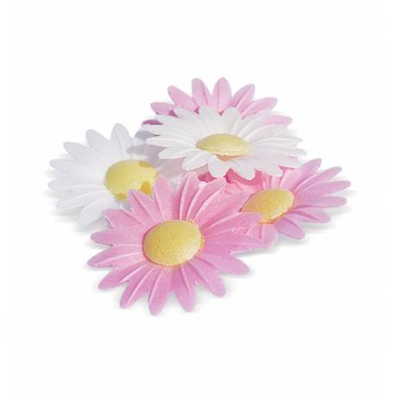 18 flores de margarita de papel sin plomo
