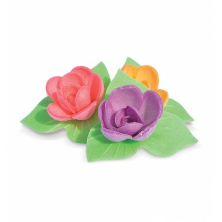 8 mini bunch of Roses corolla and unleavened leaves