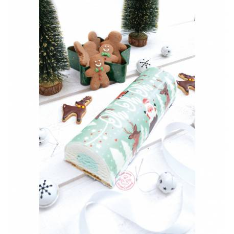 Masa de panecillos de azúcar para el tronco de Navidad Ho Ho