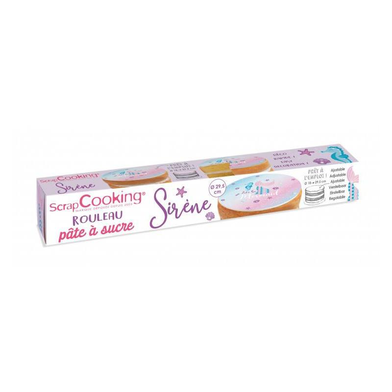 Sugar paste in roll Siren Theme 150g