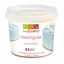 Pot de mini meringues blanches cannelées 40 g