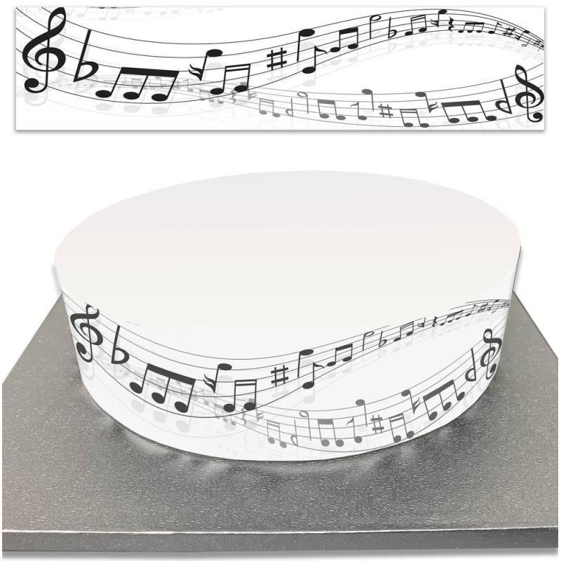 Contour de Gâteau Notes de musique en sucre