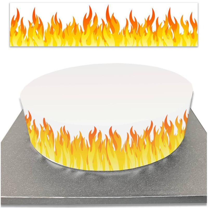 El contorno del pastel de azúcar en la decoración de la llama