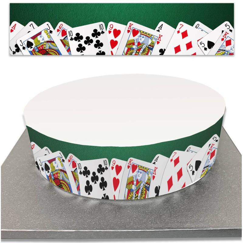 Sugar Cake Contour for Casino and Card Game Cakes