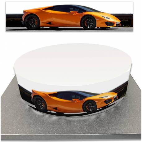 Sugar cake contour for luxury and sports car cakes
