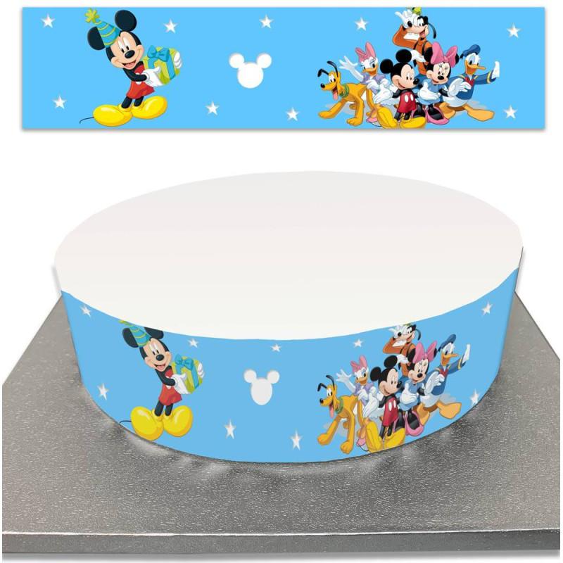 Contour de Gâteau Mickey et ses amis en sucre