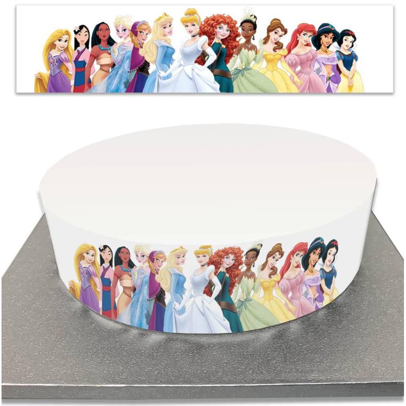 Contour de Gâteau Princesses Disney en sucre