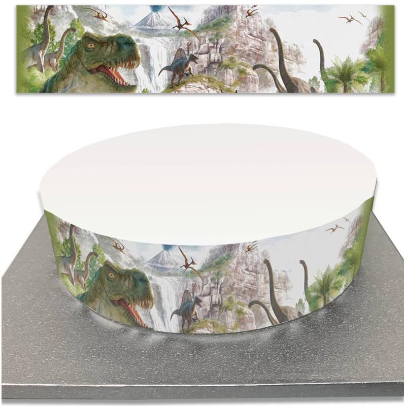 Contorno de la torta de azúcar para las tortas de los dinosaurios