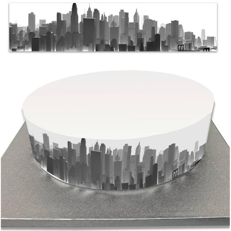 Contorneado de tortas de azúcar para la construcción de tortas en Nueva York