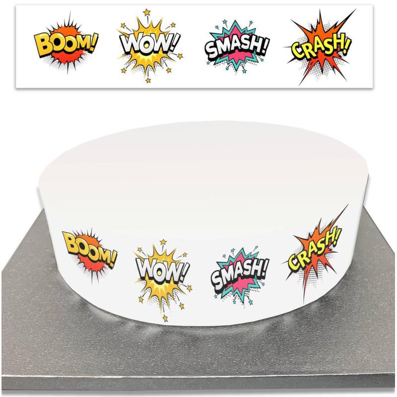 Contour de Gâteau Bandes dessinées BD en sucre