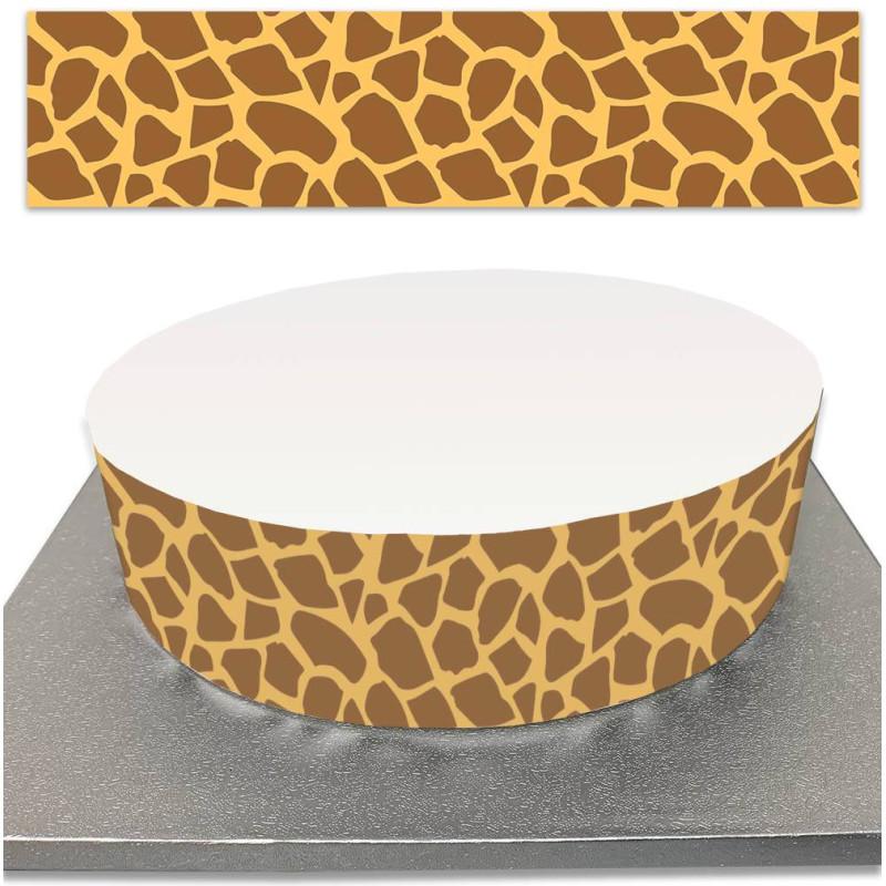 Contorno de pastel de azúcar con decoración de jirafas