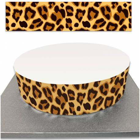 Sugar cake outline with leopard print