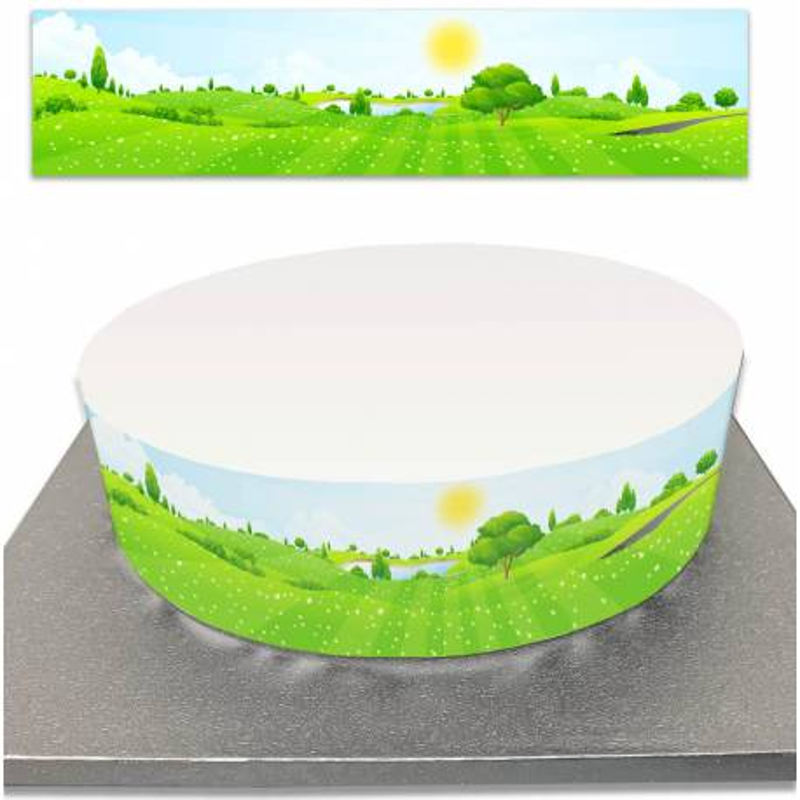 Sugar cake contour for landscape and nature cakes