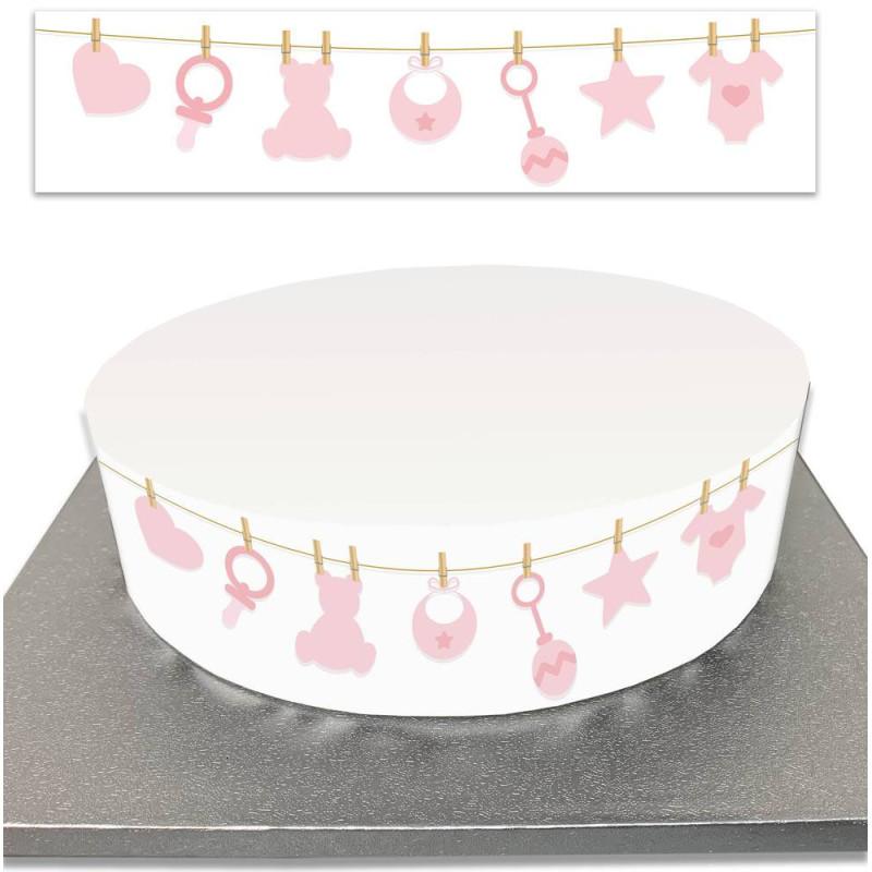 BABY SHOWER Sugar Cake Outline Garland BABY SHOWER Girl