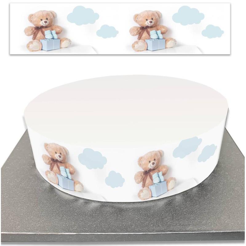 Sugar cake contour for birth or birthday baby boy