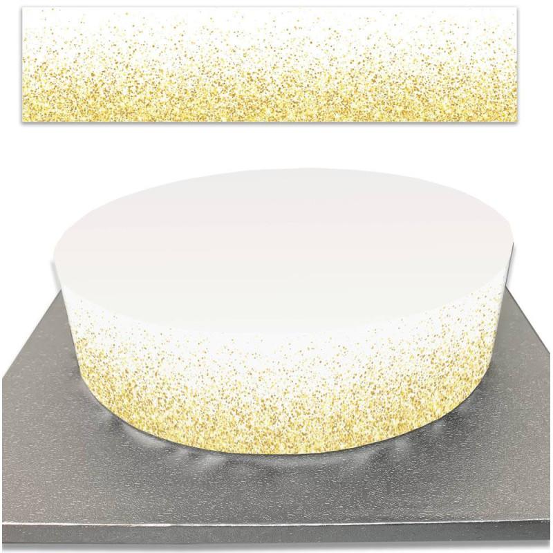 Contour de Gâteau paillettes d'or en sucre
