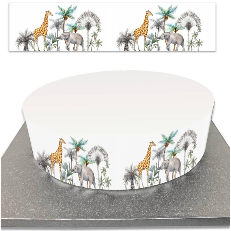 Contorno del pastel de azúcar para los pasteles de animales de la selva