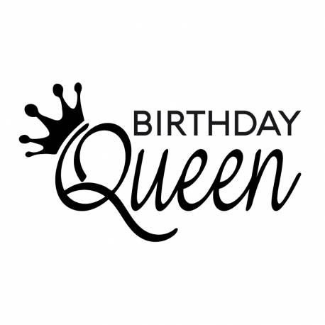 Personalized stamp 6cm - royal birthday and crown