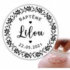 Personalized stamp 6cm - Contemporary writing stamp
