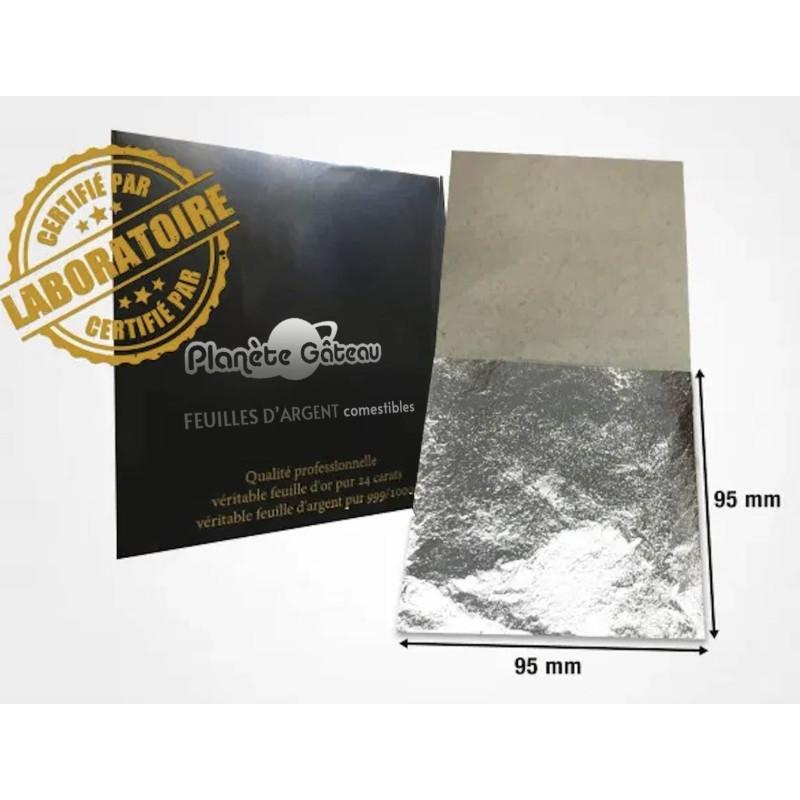 9.5 cm (x5) food-grade silver foil