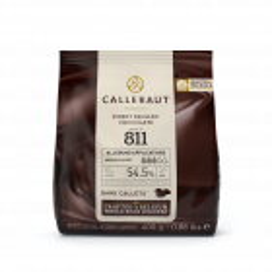 Chocolat noir de couverture 811 Callebaut 54,5% Gallets 400g