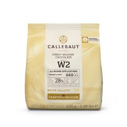 Chocolat blanc 28% en Gallets 400g de Callebaut W2