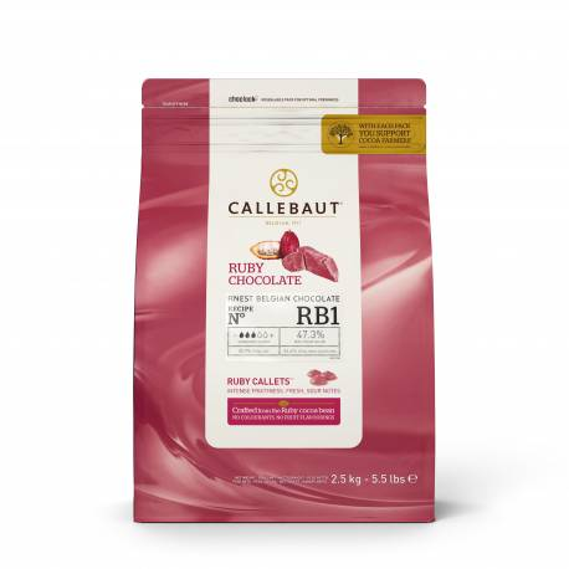 Chocolat Ruby 47,3 % de Callebaut RB1 2,5 kg