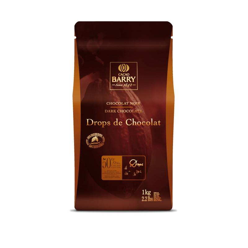 Chips de chocolate negro 50%Gotas de Callebaut 1 kg