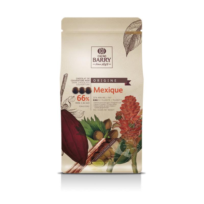 Chocolat noir origine Mexique 66% de Callebaut 1 kg