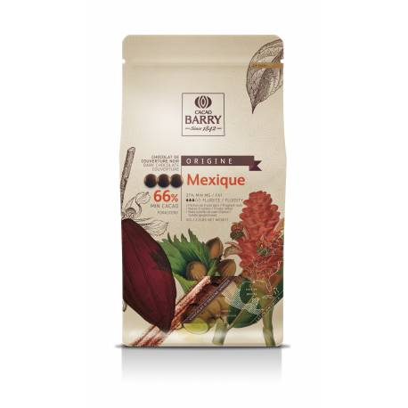 Chocolate negro Callebaut 66% de México 1 kg