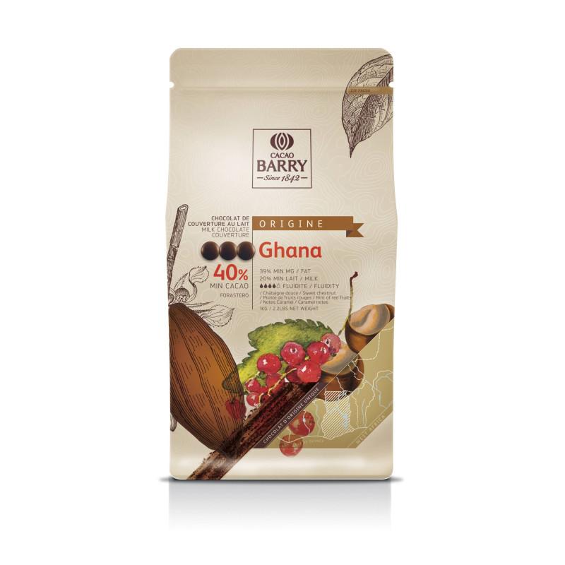 Callebaut Milk Chocolate from Ghana 40% 1 kg