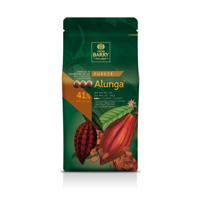 Chocolat au lait origine Alunga 41 % de Callebaut 1 kg