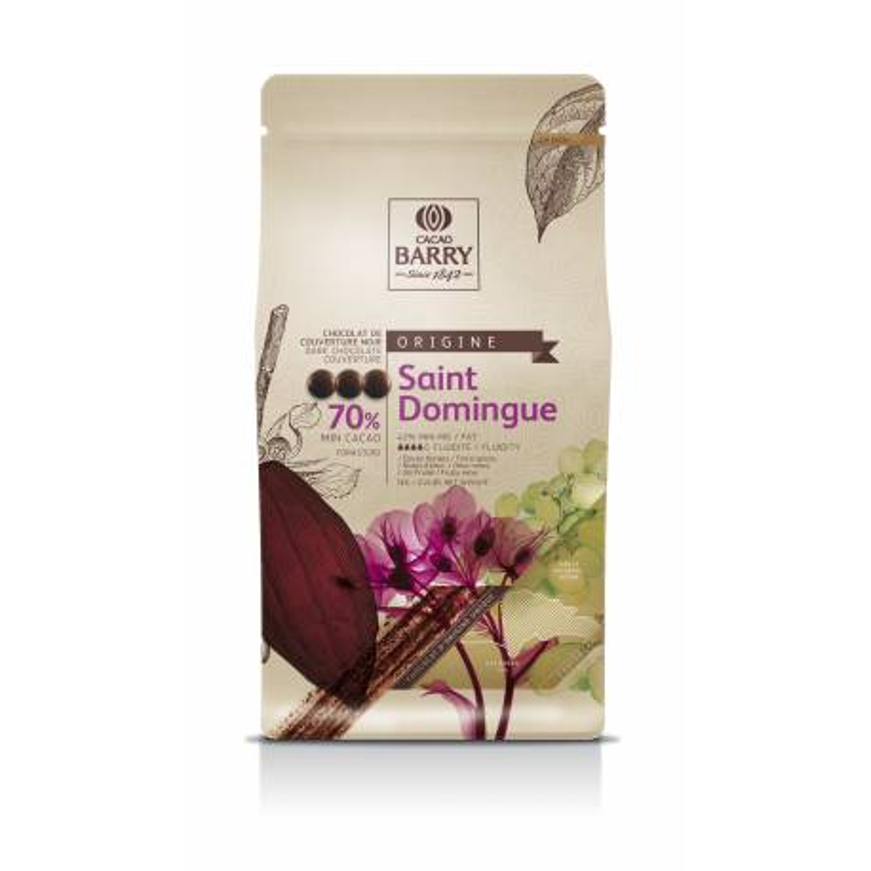 Chocolat noir origine Saint Domingue 70 % de Callebaut 1 kg