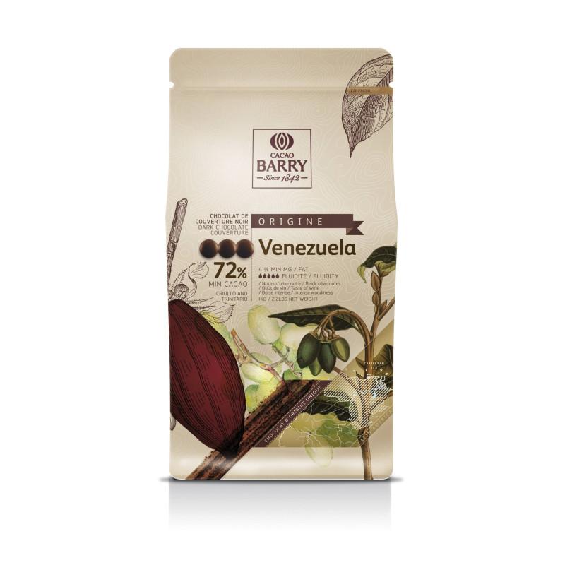 Chocolat noir origine Venezuela 72% de Callebaut 1 kg