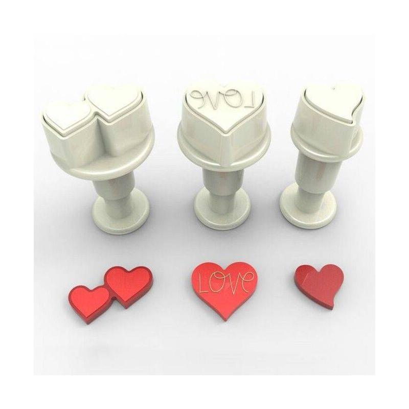 Emporte pièces à piston cœurs x3