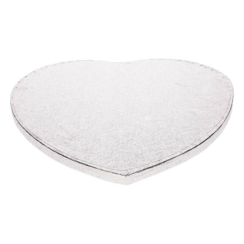 Plateau épais pour gâteaux forme cœur - 27,5 cm