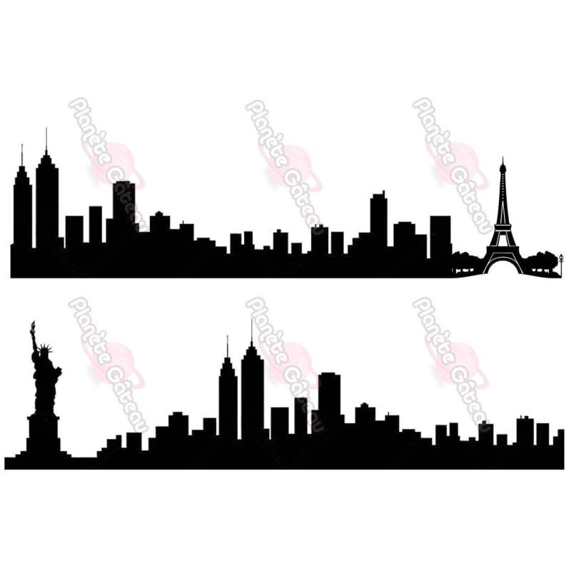 Impresión alimentaria Silhouette Buildings