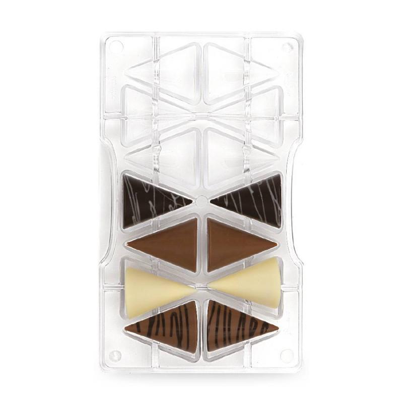 Moule à chocolat triangles en polycarbonate x14