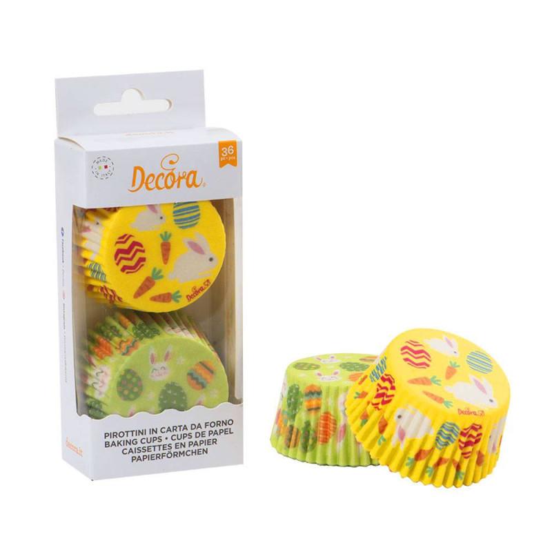 Cajas de cupcakes de conejo y huevo de pascua x36