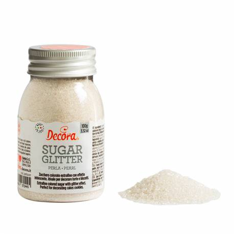 Cristales de azúcar blanco perlado 100 g