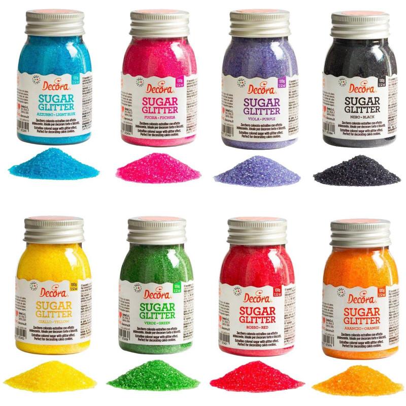 Cristales de azúcar coloreados 100 g