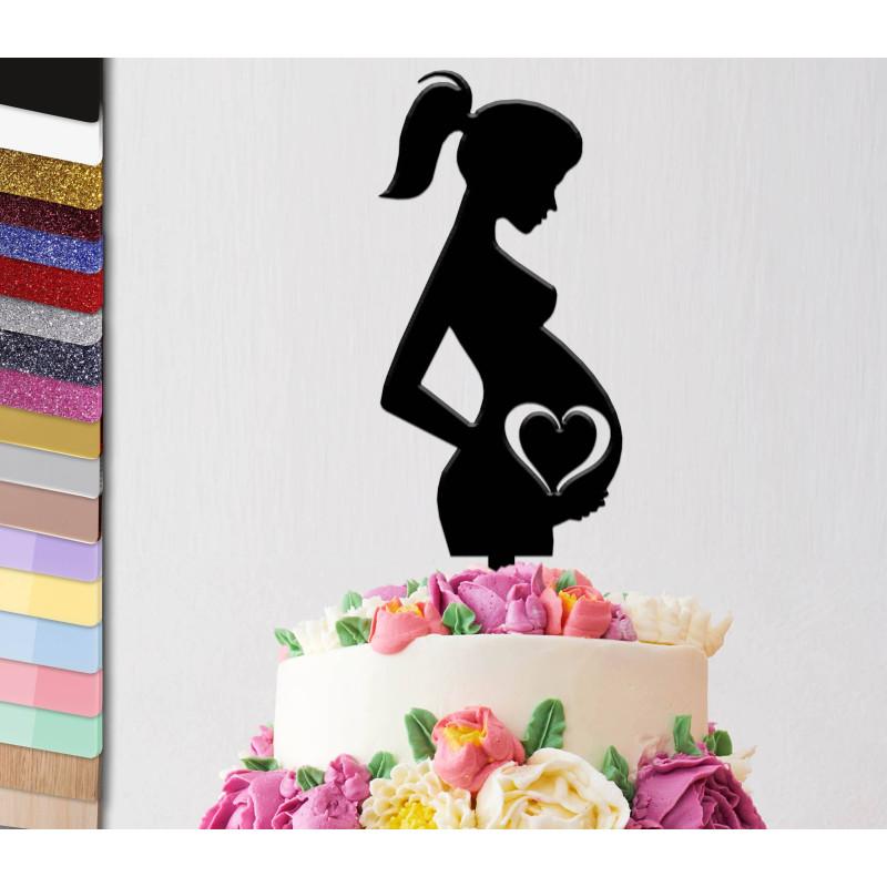 Topper pastel personalizado Mujer embarazada