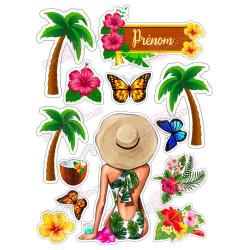 Impression alimentaire Vacances tropicales Personnalisé