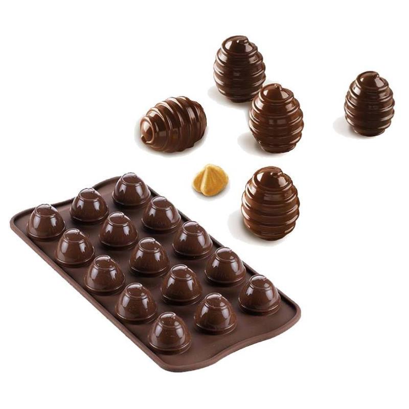 Huevo de chocolate Choco Spiral Silikomart