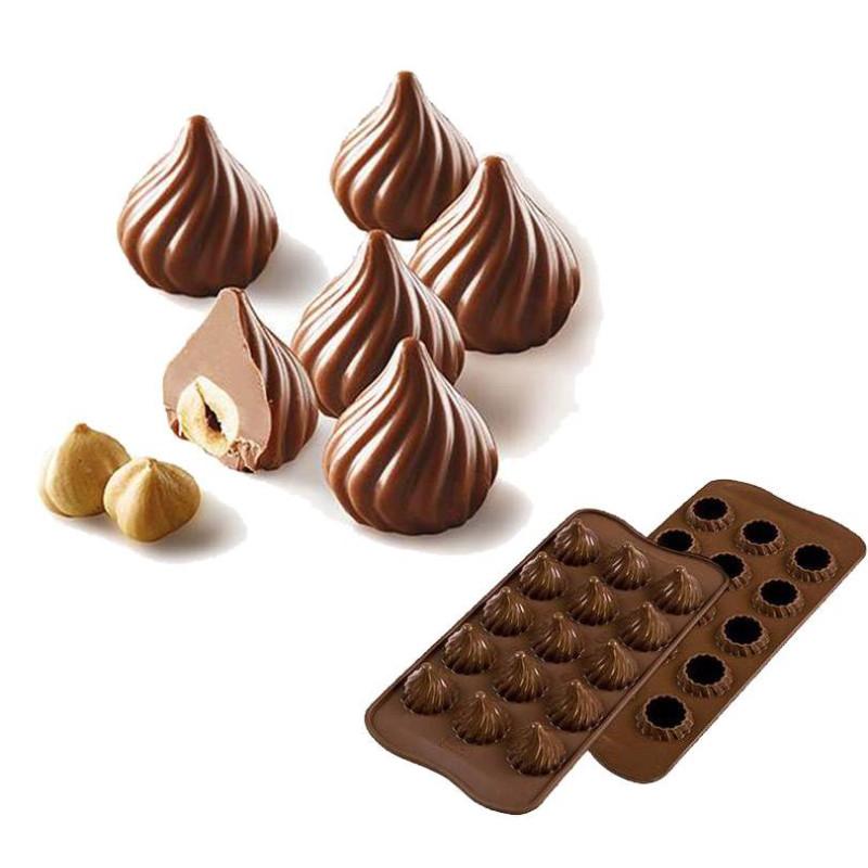 Moule à chocolat Choco Flamme Silikomart